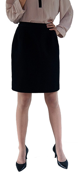 Professional black pencil skirt